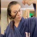 alyssa milano et perte des cheveux